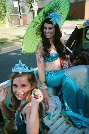 Mermaid Mia Belle's Mermaid parade, Mia and Anna